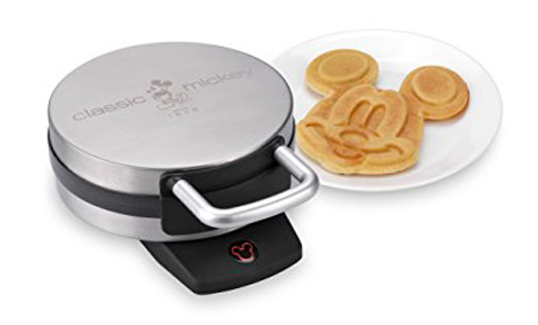 10. Disney Brushed Stainless Steel Waffle Maker (DCM-1)