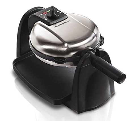4. Hamilton Beach 26030 Waffle Maker with Removable Plates