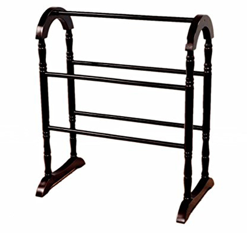 6. Frenchi Home Furnishing Classic Espresso Quilt Rack