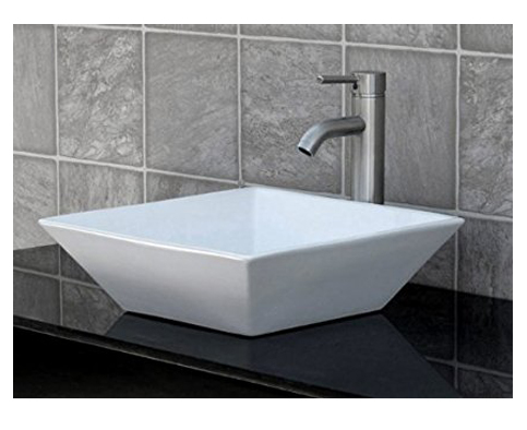 8. ELIMAX'S 7034/N3 Bathroom Vessel Sink combo that includes a brushed nickel faucet