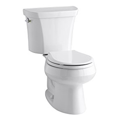 6. KOHLER K-3987-0 Wellworth Round-Front 2-Piece Toilet