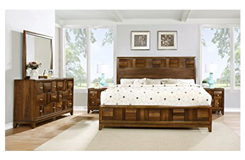 3. Roundhill Furniture Calais Solid Wood Bedroom Set