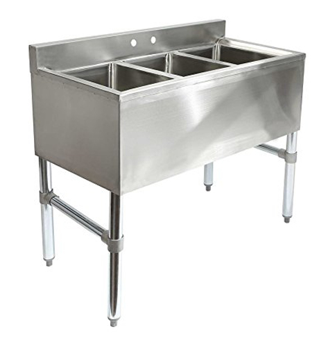 9 Gridmann 3 Compartment Commercial Stainless Steel Sink
