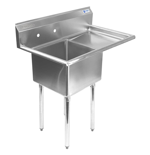 7 Gridmann Single Compartment Stainless Steel Sink