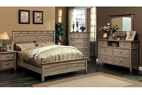 8. 247SHOPATHOME Transitional-Style 6-Piece Bedroom Set