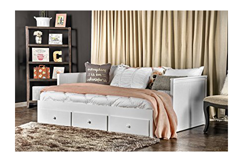 4. Furniture of America White Medina Cottage Daybed