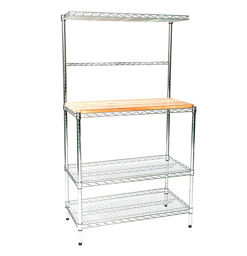 10. High Deluxe 24 Deep by 30 Wide by 63-inch Chrome Bakers Rack