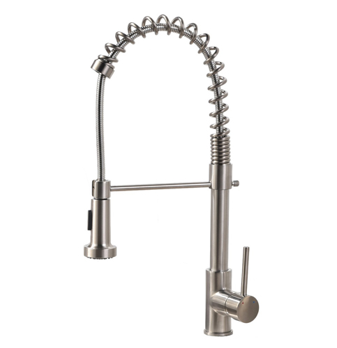 6 VCCUCINE Commercial Brushed Nickel Single Handle Kitchen Faucet