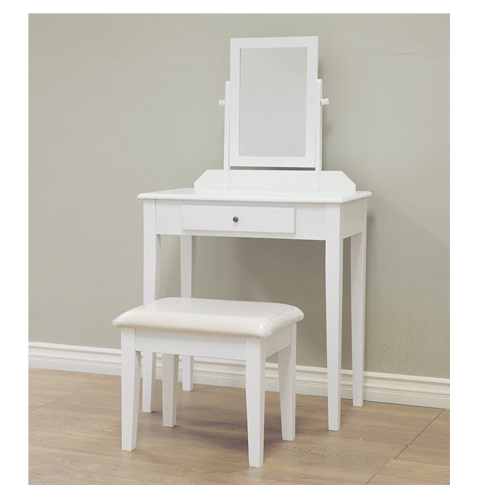 3. Frenchi Home Furnishing White Finish Vanity Set