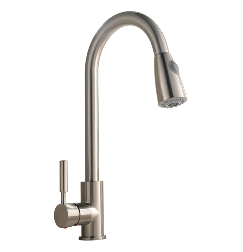 1 Comllen Stainless Steel Single Handle Kitchen Faucet