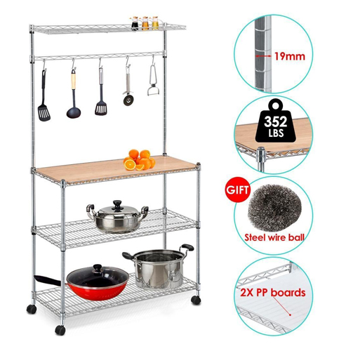 4. Yaheetech 61'' four Tiers Adjustable Kitchen Bakers Rack