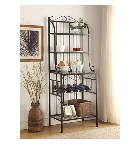 3. Four tier Marble Finish Shelf Kitchen Bakers Rack
