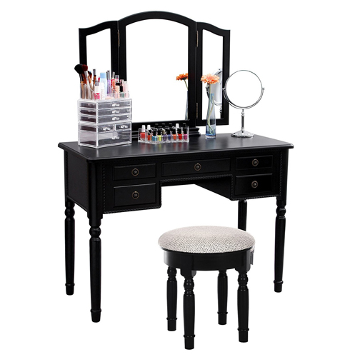 5. SONGMICS URDT108B Make-Up Vanity Set