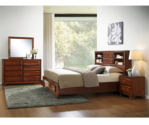 9. Roundhill Furniture Asger Antique Bed Room Set