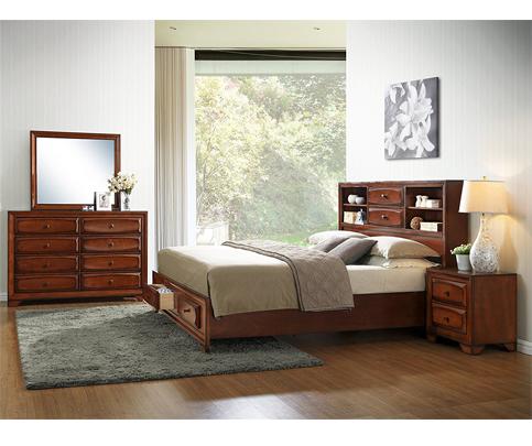 9. Roundhill Furniture Asger Antique Bed Room Set