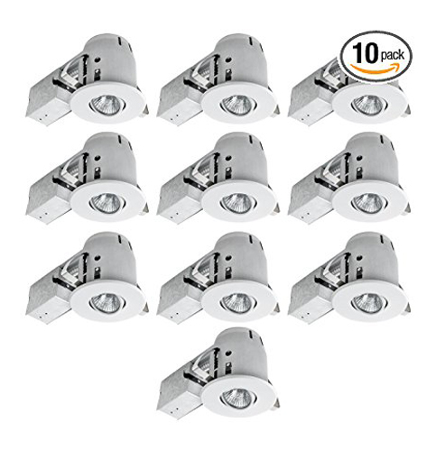 "2. Globe Electric 4"" Recessed Lighting Kit (10-Pack)"