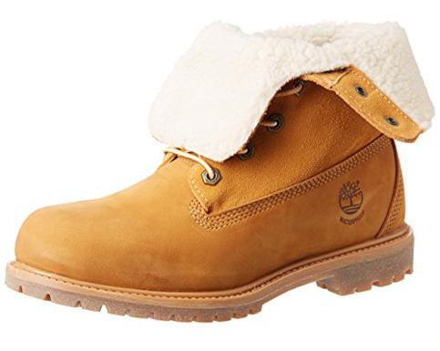 5. Timberland Women's Fold-Down Waterproof Boot (Teddy Fleece)