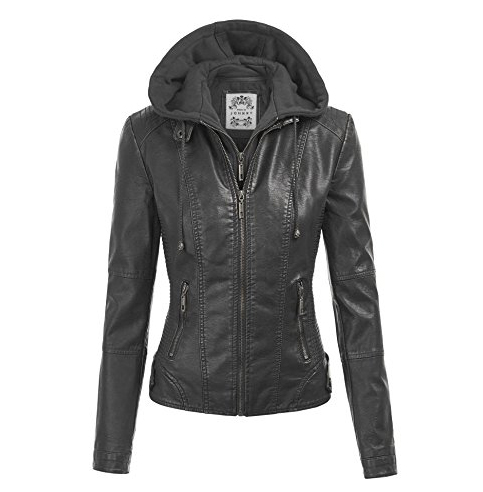 2. MBJ Faux Leather Motorcycle Jacket