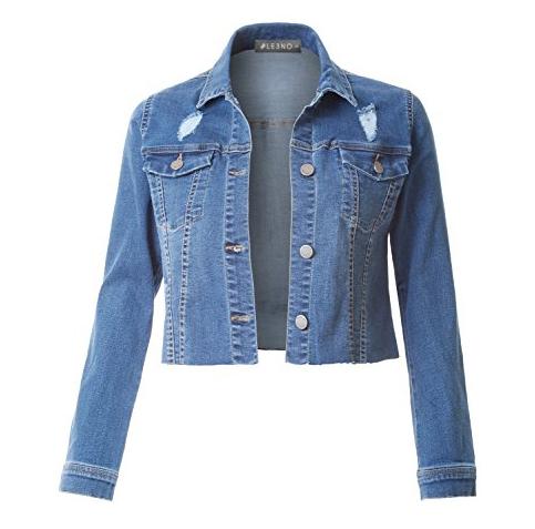 8. LE3NO Vintage Long Sleeve Jacket