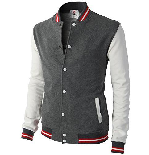 4. H2H Premium Cotton Varsity Jacket