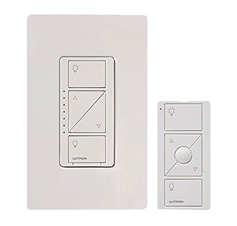 7. LUTRON P-PKG1W-WH Wireless Wall Dimmer with Remote
