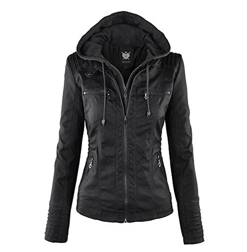 3. Lock and Love Bomber Faux Leather Jacket