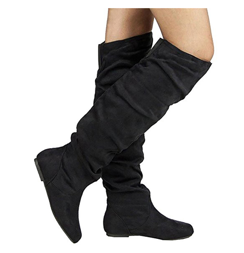 2. Room of Fashion Women's Over-The-Knee Low Heel Boots