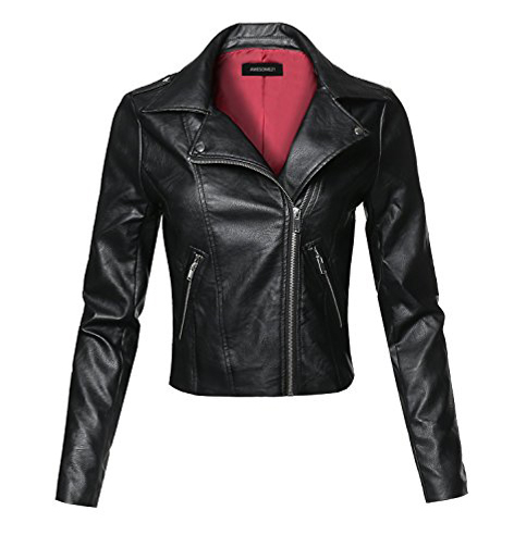 7. Awesome21 Faux Leather Women's Biker Jacket