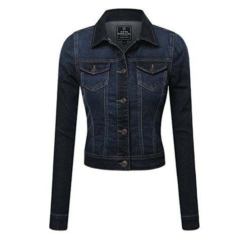 7. Fifth Parallel Threads Cropped Denim Jacket