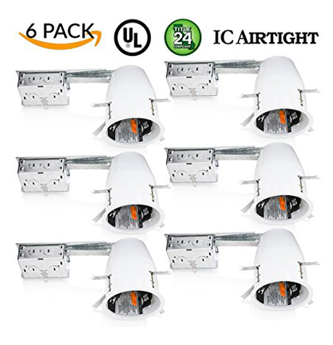 Top 10 best led recessed light housings in 2018 reviews sunco lighting 4 remodel led recessed light housing 6 pack aloadofball Image collections