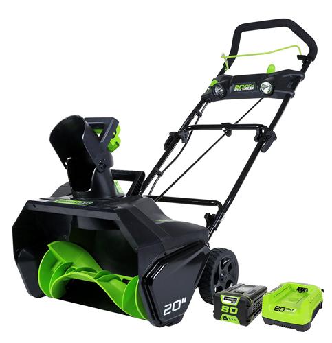 8. GreenWorks Pro 80-Volt Cordless Snow Thrower