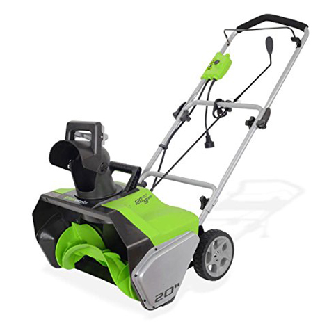 7. GreenWorks (2600502) Corded Snow Thrower