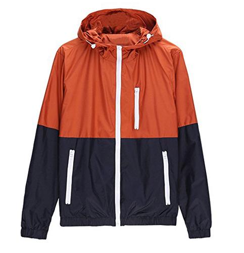 5. Amcupider Contrast Zip Front jacket