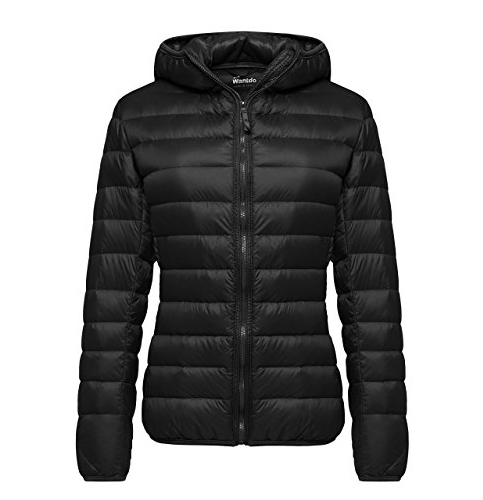 2. Wantdo Hooded and Ultra Light Short Down Jacket