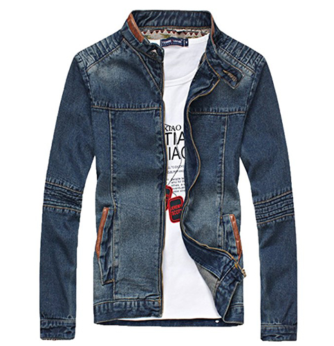 6. XueYin Slim Fit Denim Jacket
