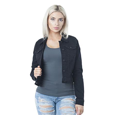 2. Hollywood Star Fashion Button Down Denim Jacket