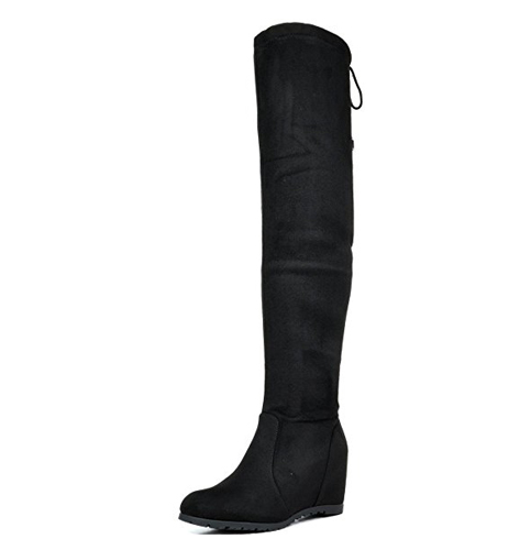 5. DREAM PAIRS Women's Over The Knee Stretch Boots
