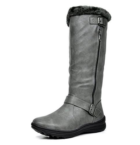 6. DREAM PAIRS Women's Winter Knee High Boots