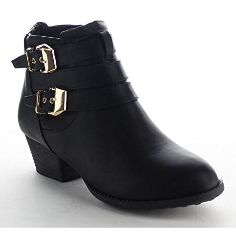 7. Top Moda Women's High Block Heel Ankle Booties