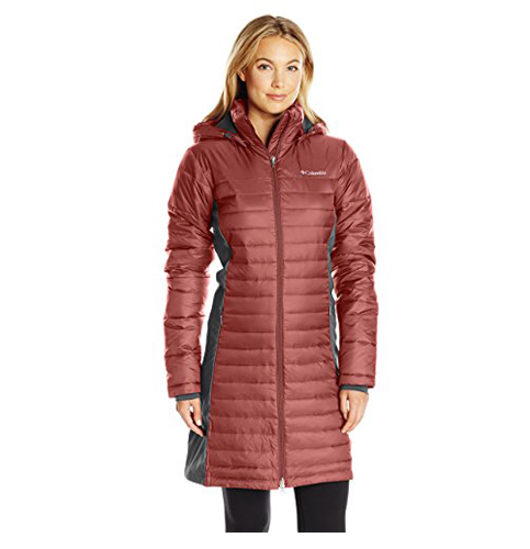 8. Columbia Powder Pillow Hybrid Women's Long Jacket