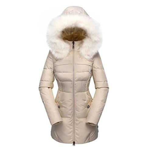 3. VALUKER Down Coat with Fur Hood