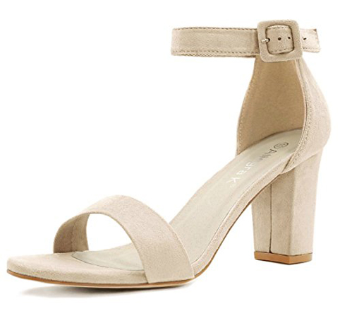 1. Allegra K Women's Heel Ankle Strap Sandals