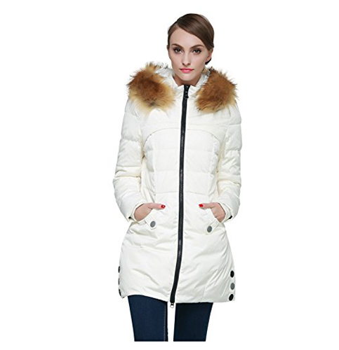 6. Orolay Down Jacket- with a faux fur trim hood