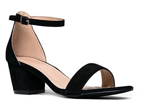3. J. Adams Daisy Ankle Strap Low Heel Sandal