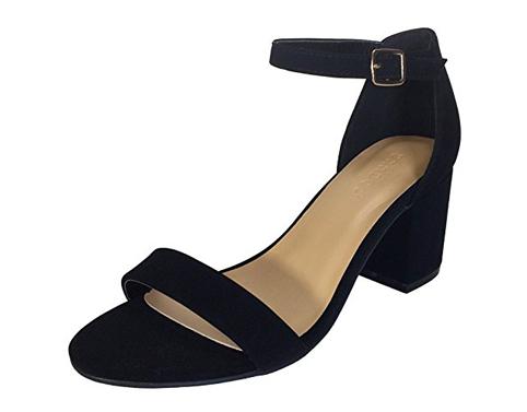 10. Bamboo Women's Block Heel Sandal