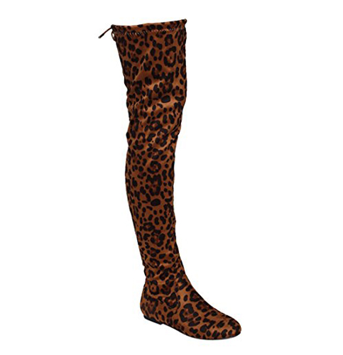 10. Nature Breeze Women's Vickie Hi Over The Knee Boots