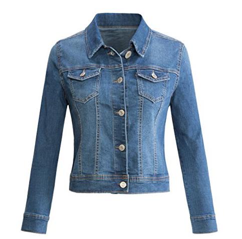 3. Urban K Women's Long Sleeve Denim Jacket