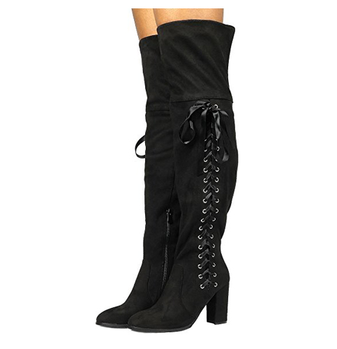 6. DREAM PAIRS Women's Over The Knee Highleg Boots