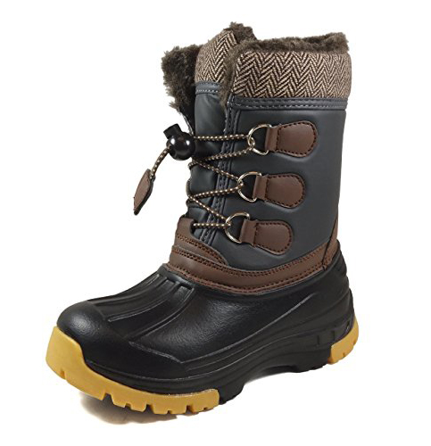 9. Nova Footwear Boy's and Girl's Winter Snow Boots
