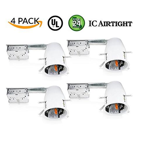 """4. Sunco Lighting 4"""" Remodel LED Recessed Light Housing (4 Pack)"""